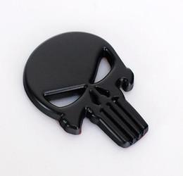 tapas del centro de la rueda bmw 68mm Rebajas Metal Auto Emblema The Punisher Body Badge 3D Skull Sticker Personalidad coche creativo Decal Sticker
