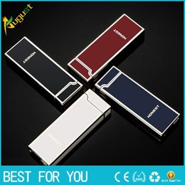 Wholesale Cigarette Lighters For Men - HONEST Creative personality metal lighter USB lighter windproof Arc lighter for man woman with gift box