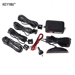 Wholesale Car Reversing Sensors - KEYYOU 1Set Car LED Parking Sensor Kit Display 4 Sensors for all cars Reverse Assistance Backup Radar Monitor System