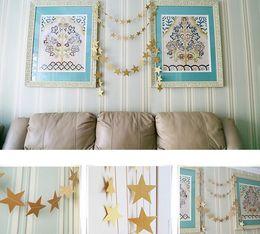 Mostrar pancartas online-Baby Show Wedding Party Star Paper 4m Decoración Banner Drop Garland