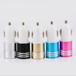 car cannon Promo Codes - Aluminum Car Charger 2 Port Cigarette 3.1A LED Lighting Cannon Chargers Dual USB travel Adapter for iPhone7 iPad samsung