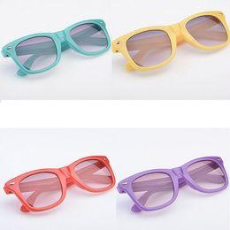 Wholesale Plastic Aviator Glasses - kids sunglasses Child Cool Children Boys Girls Kids Plastic Frame Aviator Black Sun Glasses Sunglasses Goggles uv400 20pcs lot