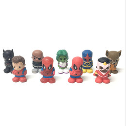 """Wholesale Batman Figure Hot - 1.5"""" Rare 9x Marvel For Ooshies Series 1 PENCIL TOPPERS SPIDERMAN BATMAN Raccoon Nick Fury Action Figure Toy Free Shipping HOT BOY GIFTCA48"""