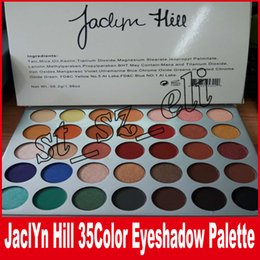 Wholesale Cosmetic Pigment Kits - The JaclYn Hill Palette Eye Makeup Set 35 Earth Color Matte Pigment Eyeshadow Palette Cosmetic Shimmer Eye Shadow Powder Make Up Kit