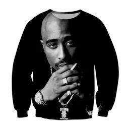 Wholesale L Smoke - Wholesale-New 2016 Fashion 3D Printed Men's Smoking Sweatshirts Outwear Long Sleeve Men Crewneck Jumper Streetwear OutdoorClothes