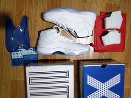 Wholesale Star Legend - Legend Blue retro 11s man basketball shoes with originals box size eur 41-47 retro 11S free shipping wholesale