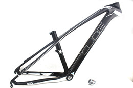 """Wholesale Mtb 26er - 26er mountain carbon fiber bike frames MTB hardtail carbon frame with headset frame sizes 15.5"""" and 17"""" in Cube decals"""