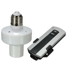 Wholesale Screw Light Control - Newest Durable E27 Screw Wireless Remote Control Light Lamp Bulb Holder Cap Socket Switch New On Off