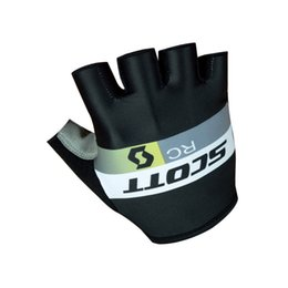 Wholesale Glove Scott - 2017 black scott Cycling Glove Gel Pad Half Finger Men Mountain Bike Bicycle Anti-Slip Breathable Shockproof Cycling Gloves Accessories sa64