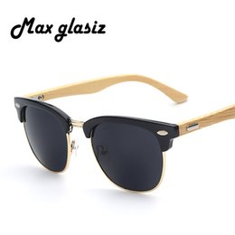 Wholesale Bamboo Wood Sunglasses Men Wholesale - Wholesale-2016 New brand designer bamboo sunglasses wood for women men vintage glasses retro mens gafas oculos oculos de sol madeira