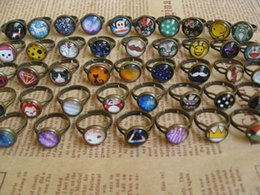 Wholesale Diy Ring Gems - 50 pcs Band Rings Time gem retro diy jewelry lattice distribution source wholesale hot