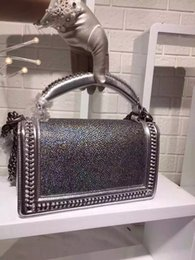 Wholesale Noble Chains - Classic noble fashion pearl fish skin lady chain chain Messenger bag