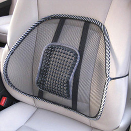 Wholesale Leather Car Seat Universal - Universal Car Back Seat Support Mesh Lumbar Back Brace Support Cool Summer Car Seat Office Home High Quality Back Seat Cushion