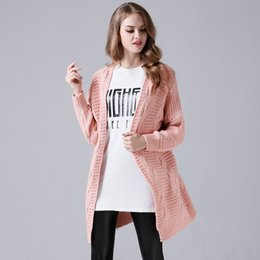 Wholesale Cardigans Style For Women - Off Shoulder Long Cardigan Sweatrts Long Sleeve Cotton Sweater for Women European and American Style Free Size