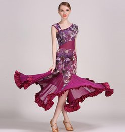 Wholesale Ballroom Dress Waltz - Women Dance Dress Standard Ballroom Competition Dresses Costumes For Women Big Swing Tango Waltz Dancewear 2017 Flower Modern Dance Dress
