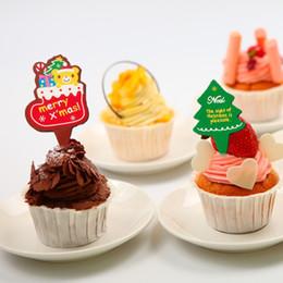 100 Pcs / lot De Noël Cupcake Topper Joyeux Noël Gâteau Wrappers Décoration 3.8X2.6cm Articles Mignon Vitesse D'arbre Stuff Fournitures Produits ? partir de fabricateur