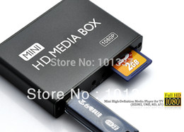 Wholesale Usb Media Adapter - Wholesale-Full HD 1080P Car Media Player HDMI,AV output,SD MMC Card reader USB Host,Free Car adapter Gift&Free shipping!