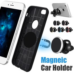 Wholesale magnet drive - Metal Car Mount Universal Car Holder For CellPhones Reinforced Magnet Easier Safer Driving 360 Degree Rotation Phone Mount with Retail Box