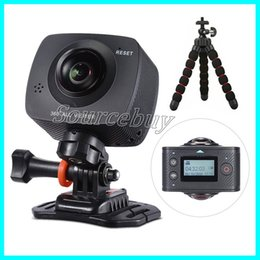 Wholesale Lens Panoramic - Panoview Dual-lens 360 Camera 1920*1080P HD Panoramic VR Camera Camcoeder with 220 Degree Fish Eyes Lens Video Wifi App Action Sport Cameras
