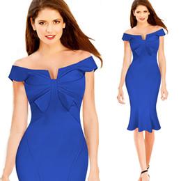 2018 mais recente vestido projeta fotos fora do ombro mulheres bodycon plissado vestido de noite sereia bandage vestido S-XXL WD012 de Fornecedores de design de vestido de mulher foto