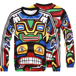 Wholesale Totem Maya - Wholesale-Maya Indian totem hoodies for men women brand men sweatshirts suit casual pullover hoodies thin style o neck long sleeve tops