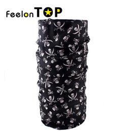 Wholesale Multifunction Headwear - Wholesale- New Mens Women Hip Hop Outdoor Cycling Multifunction Polyester Skull Ring Sarf Tube Cycling Hiking Unisex Warmer Headwear