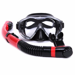 Wholesale Adult Diving Mask - Wholesale-Factory Professional Made Scuba Diving Mask Snorkel Set Whale Brand 5 Colors Sets Scuba Diving Tube For Adults Swimming Gear
