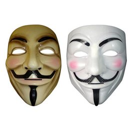 Wholesale Guy Fawkes Black - v for vendetta mask black yellow guy fawkes mask cosplay costume v for vendetta mask anonymous movie guy fawkes free shipping in stock