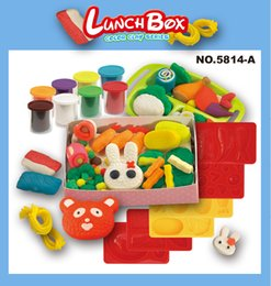Wholesale Children Lunch Box Sets - Color Clay Dough set Funny Children Cooking Lunch Box Free Tools and Accessories For Kid the best gift for children(Large)