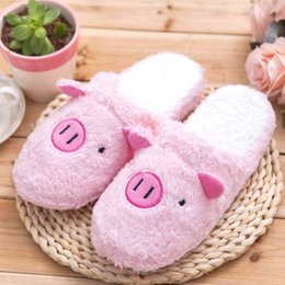 Wholesale Animal Print Booties - Winter Cotton Slippers Cartoon Cute Lovers Warm Plush Shoes Winter Slippers Plush Shoes Home Interior Low Heel