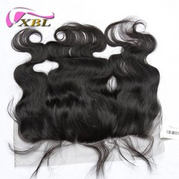 Wholesale Brazilian Body Wave Frontal - XBL Body Wave Lace Frontal Human Hair Closure Brazilian Body Wave Human Hair Clsoure Within Lace 13*4.5