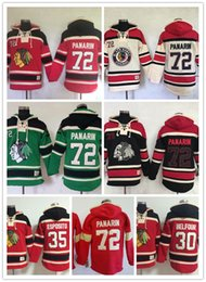 Wholesale Belfour Jersey - Men's Ice hockey jerseys Fleece Hoodie Chicago black hawks #72 Panarin #30 Belfour #35 Free shipping The Hi-Q traditional embroidery