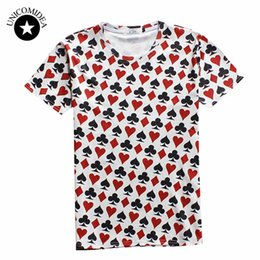 Wholesale Army Play - Wholesale- 2017 Summer style hip hop t shirt men women Playing cards print 3d t shirt poker T-shirt casual short sleeve camisa masculina