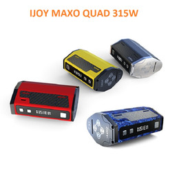 Wholesale Compare Free - Original IJOY MAXO QUAD 315W TC Box Mod Compared to triple 18650 vape mod with a longer life-span electronic cigarettes mods DHL free
