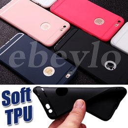 Wholesale Customize Opp Bag - Ultra thin Matte TPU Colorful Soft Case Phone Protective Cover Silicone Cases For iPhone 5 5S 6S 6 plus 7 7plus OPP Bag