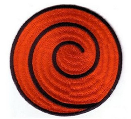 Wholesale Anime Appliques - NARUTO RED SPIRAL PATCH anime Uniform Patch TV Series punk rockabilly applique sew on  iron on patch Wholesale Free Shipping