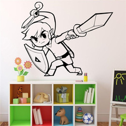 Wholesale Posters Games - House Life Game Zelda Door Decorations Home Design Animals Wall Stickers Comic Posters Vinyl Decals DIY
