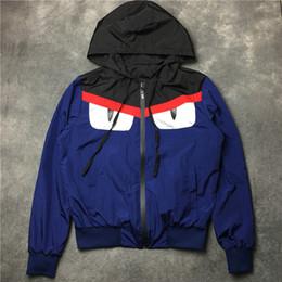 Wholesale Hoodies Men Double Sided - 2017 autumn winter famous brand men women hoodies little monster devil eyes double-sided wear windbreaker lovers hoodie jacket