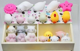 Wholesale Cute Music - 500PC Hasbro Toy Kawaii Original Japan Lazy Cat Mochi Decompress Squishy Squeeze Cat Healing Toy Cute Little Animal Dumpling Gifts for Kids