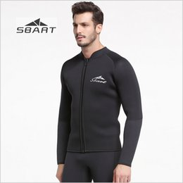 1bda4f4f6c Sbart 2017 New 5mm Wetsuit Jacket Black Thicken Thermal Winter Swimming  Snorkeling Surfing Long Sleeve Rash Guard Wet suit