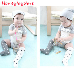 Wholesale Children Tube Socks White - Baby Knee Socks Dots Stars Cute High Socks Kids Boys Baby Girls Socks Warmers Ruffle Pink White Long Tube Children Leg Warmer