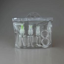 5 unids / set Viaje Portátil Champú Crema Loción Cosmética Botellas Rellenables Botella Presionada Botella de Perfume Aerosol Envase de Plástico F2017655 desde fabricantes