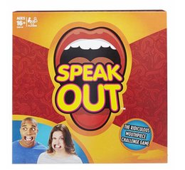 Wholesale Big Plastic Paper - 2016 new Speak Out Games Ridiculous Mouthpiece Challenge Game game for your mouthpiece with paper cards