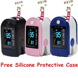 Wholesale Blood Pressure Pulse Oximeter Monitor - LED Blood Pressure Monitor Oximetro with Software & 24H Recording RPO-50D+ Fingertip Pulse Oximeter Free Silicone Protective Case