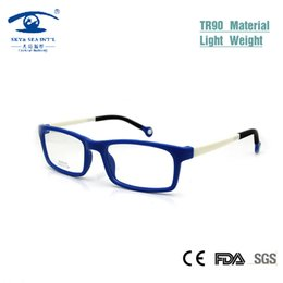 Wholesale Memory Boy - Wholesale- Cool Kids Glasses Frames Boy Girl Rectangular Kid's Eyeglasses Nerd TR90 Flexible Children Plastic Memory Rx Lens