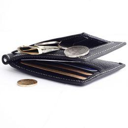 Wholesale Hip Organizer - GUBINTU Men Leather wallet Ultrathin Luxury Credit Card ID Card Holder Slim Purse Clutches Mens Wallet Hot Sale