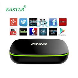 Wholesale Airplay Mini Tv Box - Newest Arrival M9S V6 Smart TV BOX Android Quad Core H.265 Media Player Mini PC 2.4GHz Wifi Miracast Airplay DLNA OTT TV Box VS MXQ M8S X96