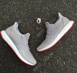 Wholesale Casual Canvas Shoes Womens - (With Box)HOT Solebox Consortium Ultra Boost UNCAGED Gray Red S80338 Sneakers Mens And Womens Casual Shoes Breathable Running Shoes