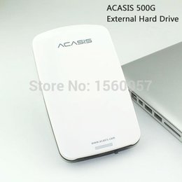 Wholesale Hdd Play - Wholesale- Good price Free shipping 2.5'' ACASIS Original USB2.0 External Hard Drive 500GB Mobile Portable HDD Disk Plug and Play On Sale