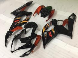 Wholesale Gsx K5 - Bodywork GSXR1000 2006 ABS Fairing GSX R1000 2005 Black Orange Red Full Body Kits for Suzuki GSXR1000 06 2005 - 2006 K5